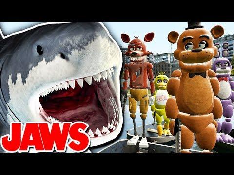 JAWS DEVOURS FNAF?! | Gmod Sandbox (JAWS SHARK vs FIVE NIGHTS AT FREDDY'S) thumbnail