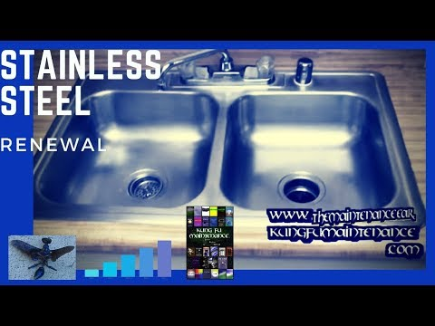How To Regrain And Revive A Stainless Steel Kitchen Sink - Youtube