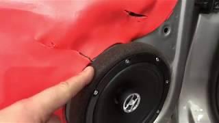 Volkswagen Polo автозвук. Установка / замена колонок в дверях через проставочные кольца