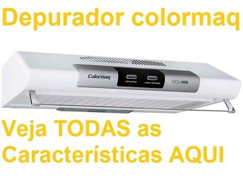 f535c053a Depurador de Ar para fogão Colormaq 60 cm para fogão 4 bocas e 06 bocas  coifa para fogão