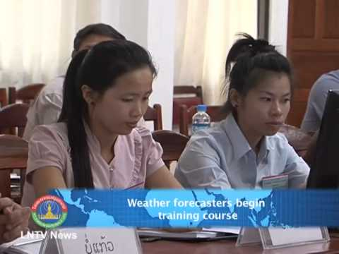 Lao NEWS on LNTV-Weather forecasters begin  training course. 26/6/2013