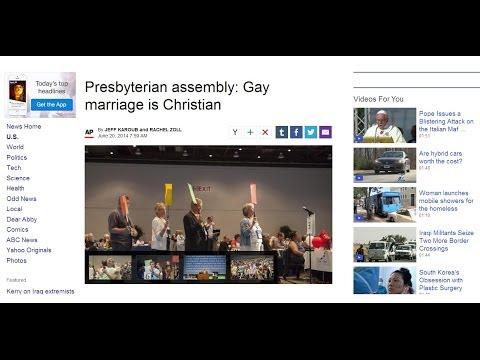 Gay Marriage is Christian Says Presbyterian Church
