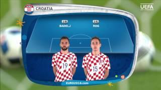 Croatia line-up v Spain: UEFA EURO 2016