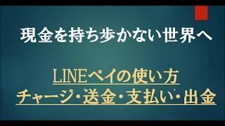 【LINEペイ】チャージ・送金・支払い・出金