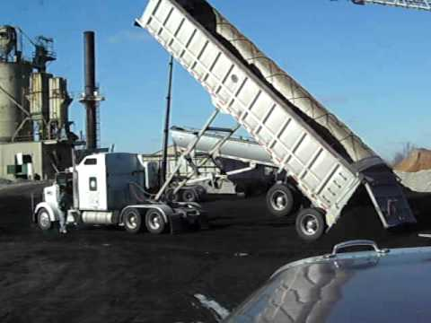 End Dump Truck >> Kenworth end dump, frozen coal - YouTube