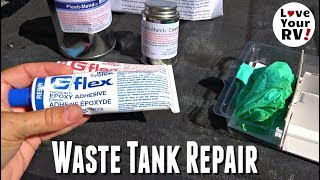 Cracked RV Holding Tank Repair using G/Flex 655 Epoxy