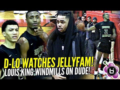 Jelly Fam JQ Shows Out for D'angelo Russell! Louis King Windmills on Defender!
