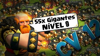 ATAQUE FULL GIGANTE NIVEL 9 - Clash Of Clans