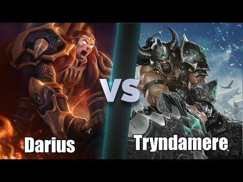 Darius(1000 games) vs Tryndamere(1800 games) Full game DIAMOND 2