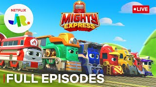 🔴 LIVE! Full Episodes of Mighty Express Short Tracks! All Aboard! 🚂 Netflix Jr