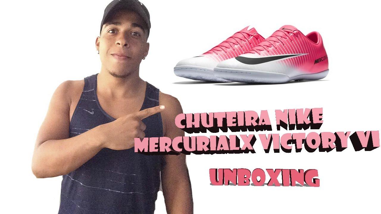 7d919aecbbaaa UNBOXING - CHUTEIRA NIKE MERCURIALX VICTORY VI FUTSAL QUADRA - YouTube