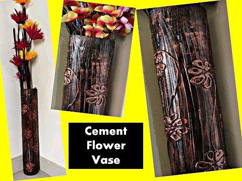 Antique flower vase making | cement flower vase | flower vase decoration ideas.