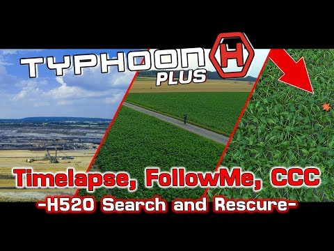 Yuneec Typhoon H Plus - CCC, Timelapse, FollowMe, WatchMe - Search and Rescure H520