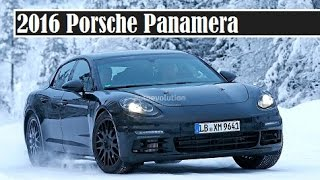 2016 porsche panamera spied test on the snowing road