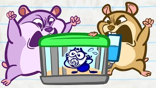 Pencilmate's Hamster Havoc! | Animated Cartoons Characters | Animated Short Films | Pencilmation