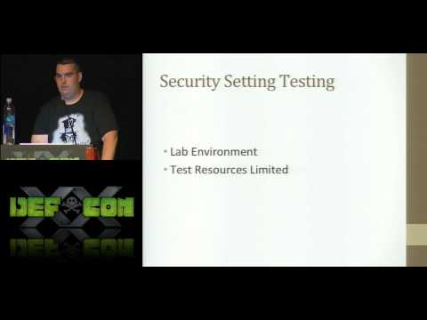 [DEFCON 20] An Inside Look Into Defense Industrial Base (DIB) Technical Security Controls