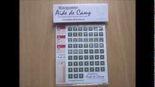 Wargamer Aide de Camp - Inserts and Stickers Booster Pack