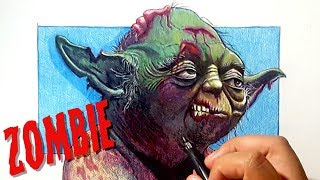A ZOMBIE, YODA IS. | Drawing STAR WARS