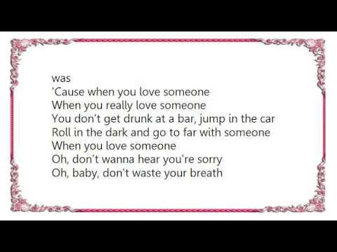 when you really love someone lyrics
