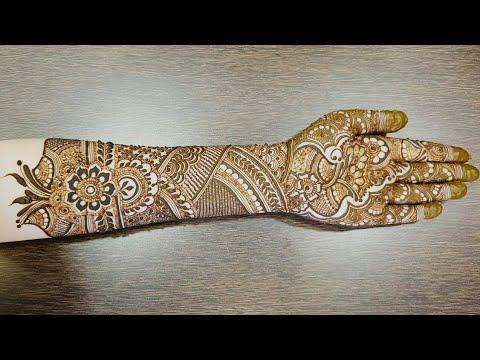 New Bridal Henna Design For Front Side Part 1 2018 Heena Vahid