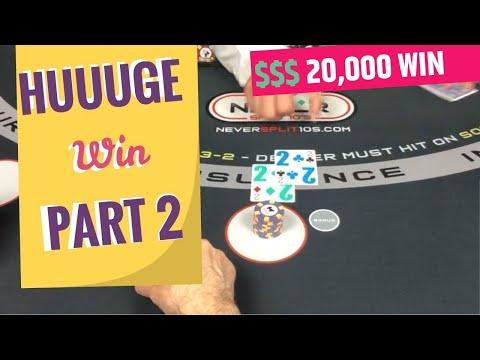 Blackjack - Massive HUUUGE Win PART 2 - It's A Monster