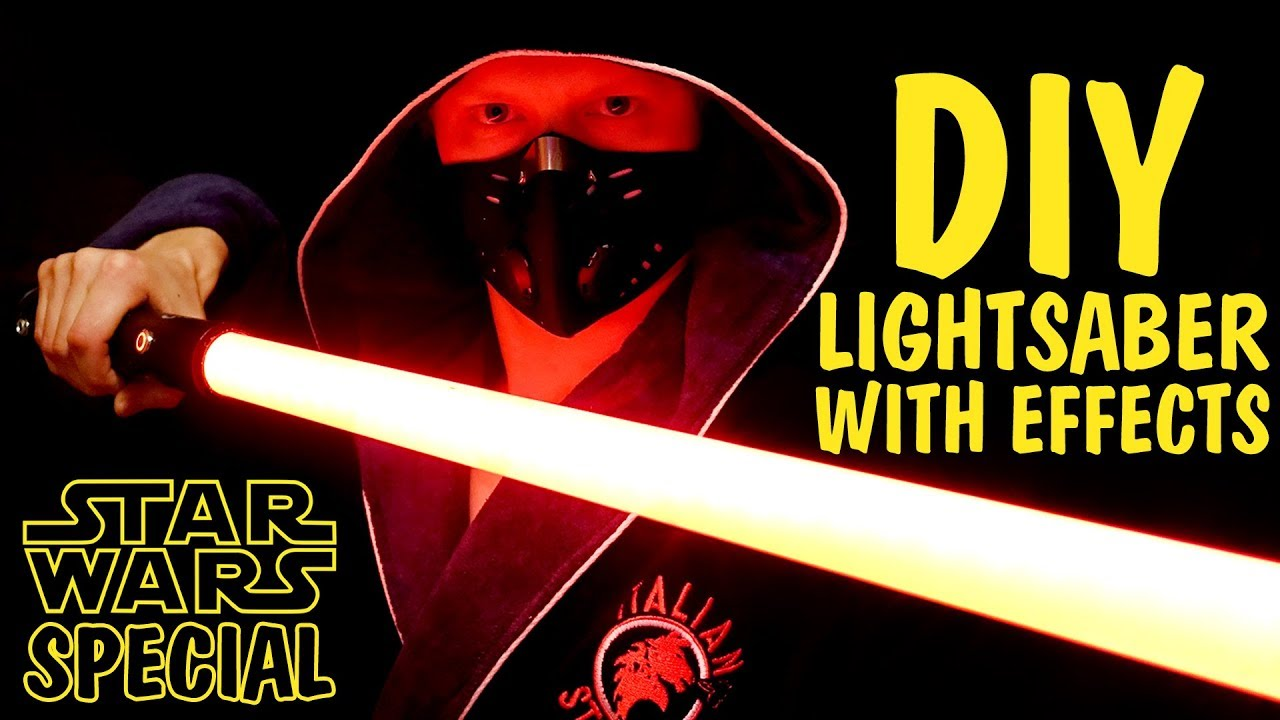 Diy Lightsaber With Light And Sound Effects Youtube Using Led Amplifiers Http Wwwinstructablescom Id Ledstrip