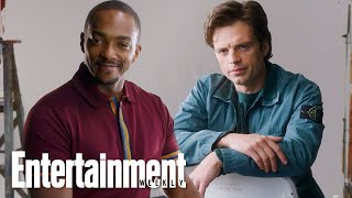 Anthony Mackie & Sebastian Stan Give Their Best Captain America Impression | Entertainment Weekly