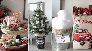 Dollar Tree Farmhouse Christmas Decor Diys 2018 Youtube