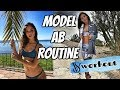 Model Ab Workout Routine: burn lower belly fat