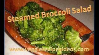 Steamed Broccoli Salad(Mild flavored)
