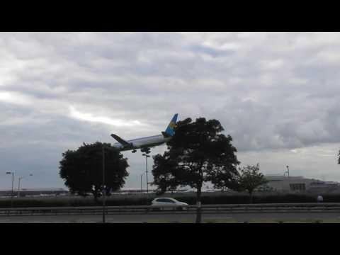 Good Uzbekistan Airways 767 UK67003 Tashkent  lands  London Heathrow Airport 26jul16 742p