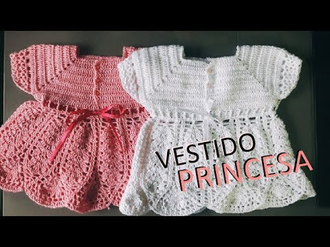 43ccb1c51f38 Vestido de crochê infantil - Passo a passo - YouTube
