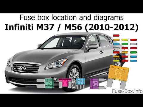 [SCHEMATICS_4HG]  Fuse box location and diagrams: Infiniti M37, M56 (2010-2012) - YouTube | Infiniti M37 Fuse Box |  | YouTube