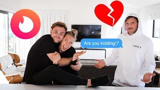 TINDER EXPERIMENT! Dating Tips With Sezzy... Sorry Kurt