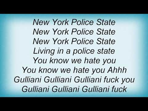Agnostic Front - Police State Lyrics