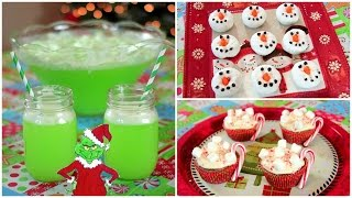 Quick & Easy Holiday Treats - Grinch Punch, Snowman Donuts, Hot Cocoa Cupcakes Thumbnail