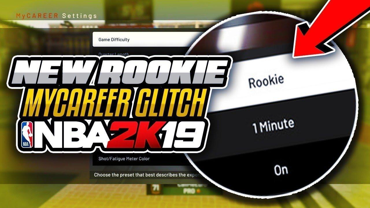 ROOKIE DIFFICULTY GLITCH ( MyCareer) | *Best Explained* | NBA 2K19