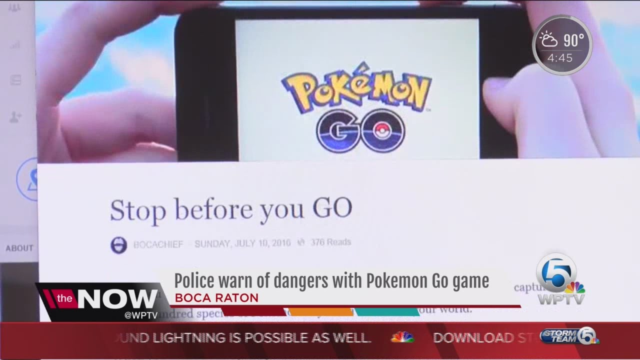 Police Warn Of Dangers With Pokemon Go Game In Boca Raton Youtube