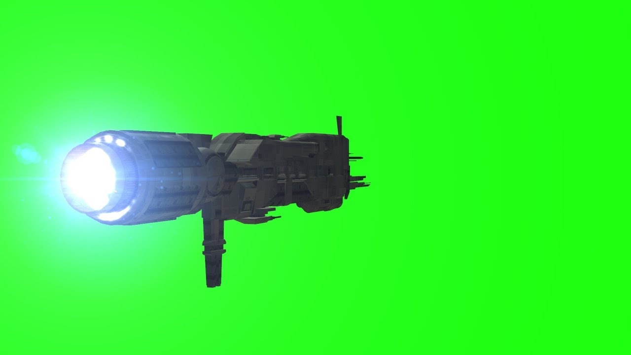 Alien Spaceship Sulaco VFX Fly Animation On Green Screen