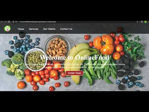Web Development Projects   Food Ordering System Project Using HTML & CSS  In Hindi   Urdu