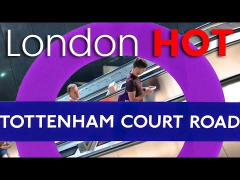 Tottenham Court Road Station shows off it's new Crossrail Elizabeth Line - 'Open Day'