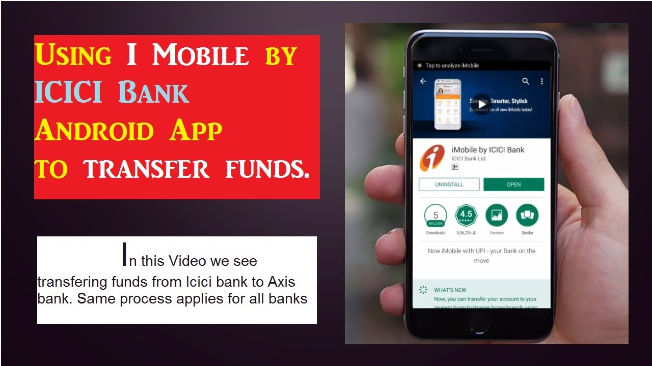 Transfer Money From Icici Bank Account To Axis Internet Banking