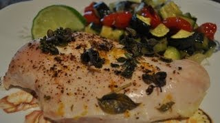 Low Fat Lemon and Herb Roasted Chicken Breast - Recipe Thumbnail