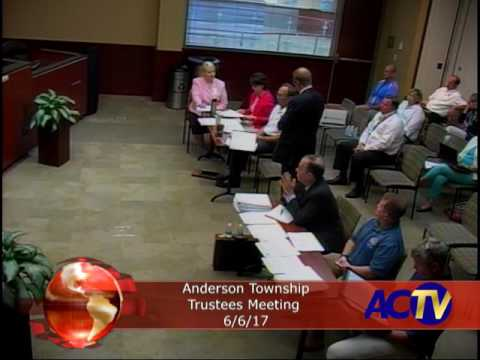 Anderson Township Trustees Meeting 6/6/17