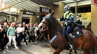 video: Violent clashes in Australia as thousands protest against lockdown