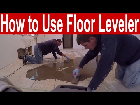 How To Use Floor Leveler To Fill Low Spots Before Laying New