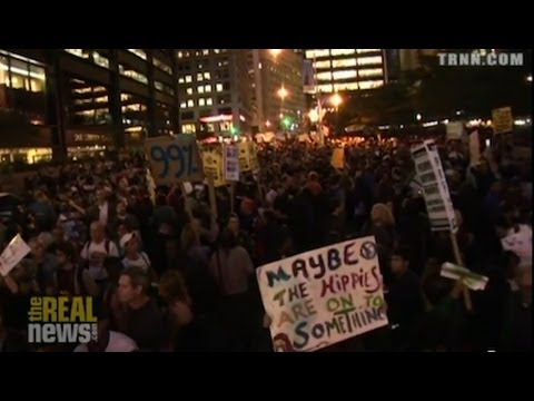 1000 Protesters Storm Wall St Barricade