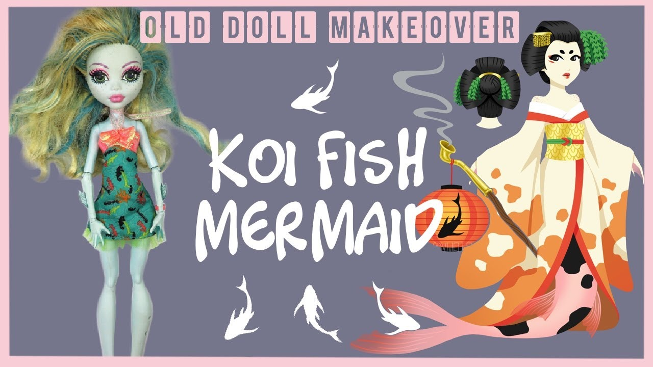 Koi Fish Geisha Mermaid / Monster High Doll Repaint by Poppen Atelier