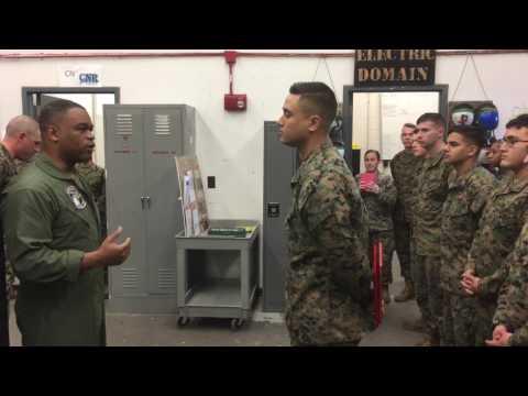 Michael gets Navy Achievement Medal at his retirement