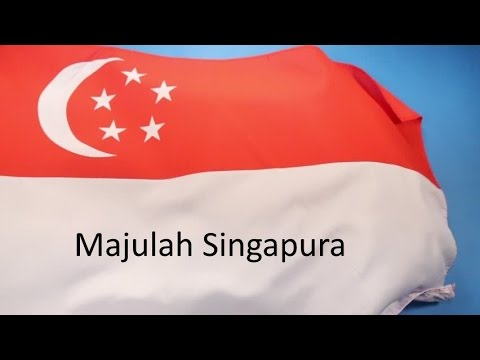 The National Anthem Of Singapore Majulah Singapura With